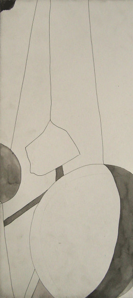 No Title 2008 ink on paper 41 x 18 cm paper size